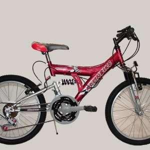 Bicicleta t.t. r.20 doble susp. 18/v