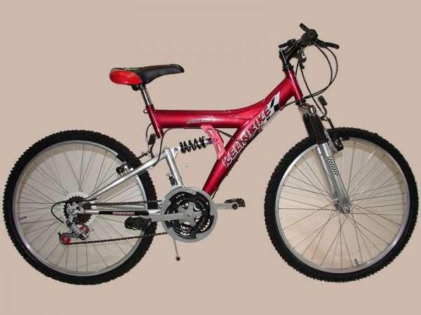 bicicleta t.t. r.24 doble susp. 18/v