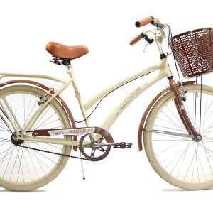 Bicicleta vintage r.26 c/porta canasto-des